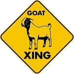 GOAT XING CROSSING EXT Aluminum Sign farm ranch barn decor