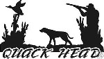 Quack Head Duck hunt / hunter funny humorous decal sticker for car truck window