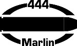 444 MARLIN gun pistol Ammunition Bullet exterior oval decal sticker car or wall