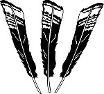 Three Decal set TOM JAKE TURKEY FEATHERS Hunting Call Life Size decal sticker