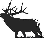 PAIR OF LARGE 6X6 ELK WALKING DECAL LEFT AND RIGHT