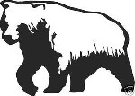 LARGE GRIZZLY BEAR DECAL