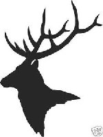 Pair of elk shoulder mount decal bow arrow deer hunt