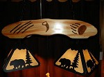 Aspen & Laser cut steel Bear Pool Table Light Lamp hunt cabin Decor ONLY ONE