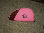 Shoot Like a Girl PINK PISTOL Gun CASE RUG LARGE 14