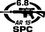6.8 SPC AR 15 gun Rifle Ammunition Bullet exterior oval decal sticker car