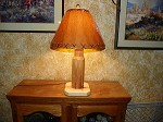 CUSTOM BULLET ASPEN LAMP Rustic Log Furniture Lodge Decor Home Cabin Shade Inc.