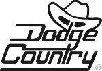 DODGE COUNTRY 4X4 CUMMINS DIESEL TRUCK OFF ROAD WINDOW STICKER DECAL