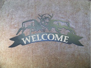 Fighting Elk Address Welcome Sign Plasma Laser Cut Steel