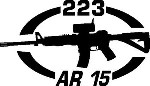 223 AR 15 gun Rifle Ammunition Bullet exterior oval decal sticker car wall