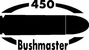 450 BUSHMASTER gun Rifle Ammunition Bullet exterior oval decal sticker car wall