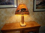 CUSTOM BULLET ASPEN LAMP Rustic Log Furniture Lodge Decor Home Cabin W/ Shade