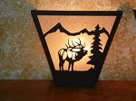 Awsome Laser Cut Steel BULL ELK ANYWHERE SCONCE Pair X2 Lamp cabin home decor
