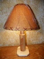 CUSTOM 223 BULLET ASPEN LAMP Rustic Log Furniture Lodge Decor Home Cabin Shade