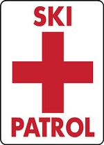 Ski Area Snowboard Sign SKI PATROL warning run slope aluminum sign