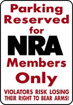 PARKING FOR NRA Keep and Bear Arms alum sign Rifle Pistol Owner deer elk hunt