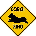 WELSH CORGI XING CROSSING LARGE 16.5
