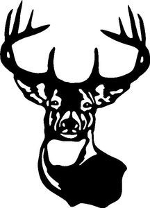 LARGE TYPICAL WHITETAIL DEER BUCK 10 POINT ANTLER Car Wall LARGE decal Sticker