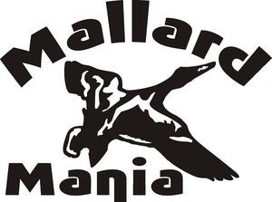 MALLARD MANIA Duck hunt hunting decal sticker car wall call blind decoy