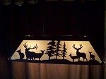 DEMO SALE Laser cut Steel Elk and Mule Deer Pool Table Light Lamp hunt cabin