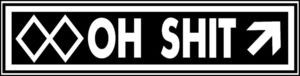 Ski Snowboard OH SH** Double Black Run Slope difficulty Aluminum resort sign