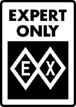Ski Snowboard Sign EX EXPERT DOUBLE BLACK DIAMOND warning run slope sign