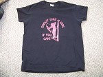 Shoot Like a Girl if you can T-Shirt archery bow hunt ladies Blk Heavy Cotton L