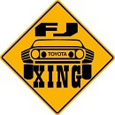 TOYOTA FJ LANDCRUISER XING ALUM EXTERIOR SIGN 4WD MOAB OFF ROAD SUSPENSION