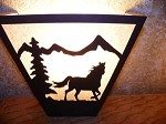 Awsome Laser Cut Steel HORSE ANYWHERE SCONCE Pair X2 Lamp cabin home decor