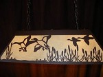 Laser cut Steel Duck Scene Desk Office Pool Table Light Lamp hunt cabin COPPER
