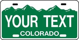 COLORADO PERSONALIZED CUSTOM LICENSE PLATE Your Choice of Text or Town or City